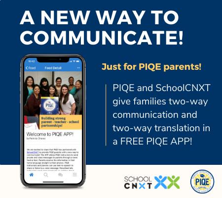 PIQE APP homepage